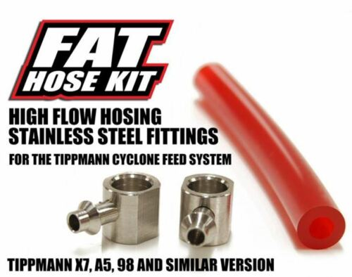 TechT Fat Hose Kit Red For Tippmann A5/X7 Paintball Gun marker A-5 X-7 98 NEW