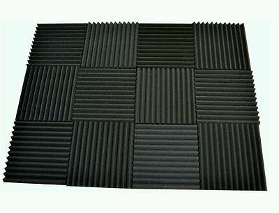 12 pack Acoustic Foam Tiles   1 x 12 x 12 (charcoal) ** FREE SHIPPING