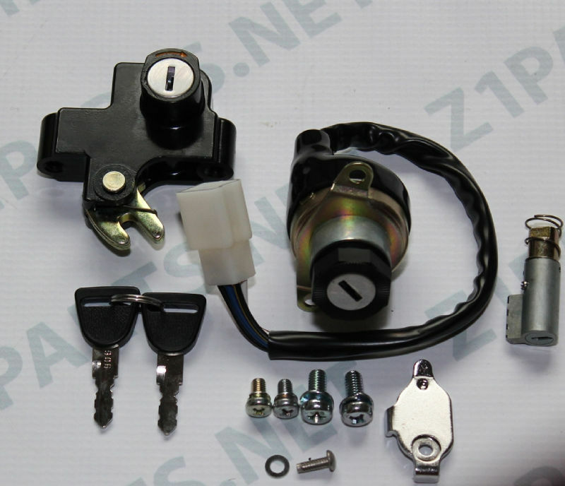 Kawasaki H2750  H2B H2C KH H1 Ignition Switch Seat and Steering lock set