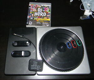 PS3 DJ Hero turntable and game