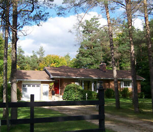Beautiful Ranch Bungalow with new addition + 4 acres & workshop