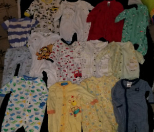 Boys sleepers and onesies, size 0 to 6 months