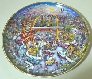 McDonalds Collector Plate Golden Moments By Bill Bell