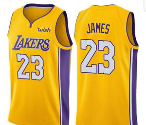 #23 JAMES LAKERS NBA Yellow Jersey, New on large only
