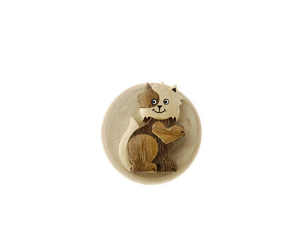 Magnet Clip Fridge Cat Wood And Magnet Peterandclo C8 B