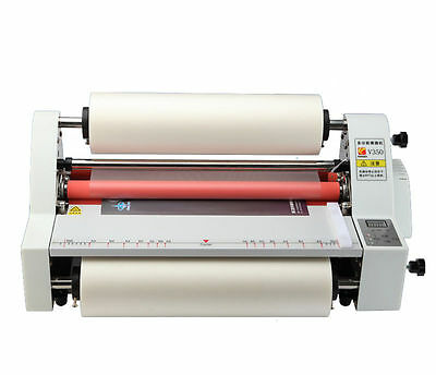 110v 13inch 350mm Laminator V350 Cold Hot Roll Four Rollers Laminating Machine