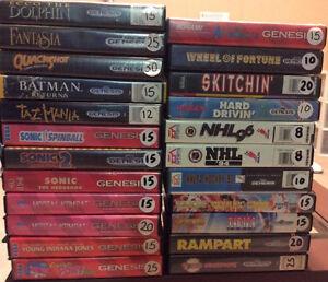 Sega Genesis Games! Over 40 Games!