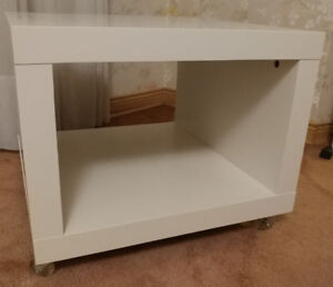 IKEA LACK side table / storage cube with casters (White)