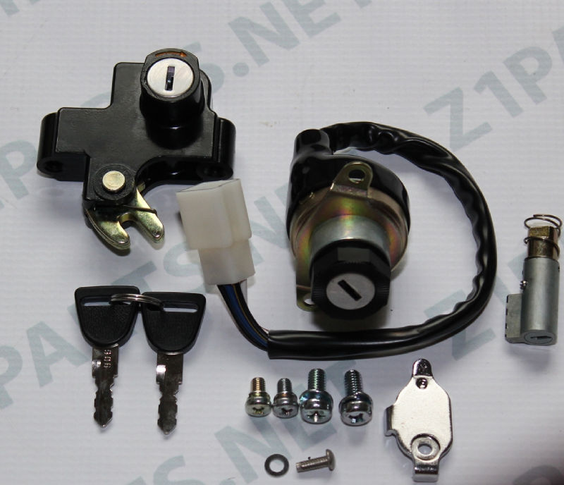 Kawasaki KH250 KH400 SS250 SS400 Ignition Switch Seat and Steering lock set