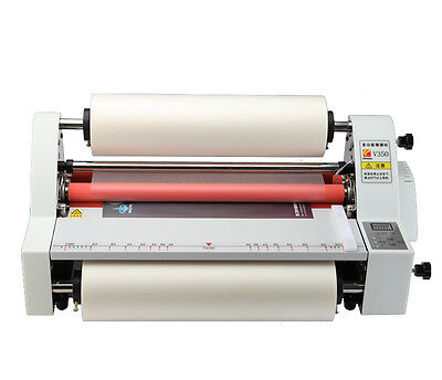 V350 13 Hot Cold Roll Laminator Singledual Sided Laminating Machine 220v