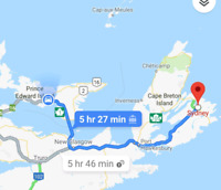 Offering ride from Charlottetown to Sydney NS