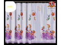 Looney Tunes voile net curtain x2 for kids children