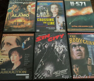 6 assorted DVD's for $10 - Why Rent when you can Own?