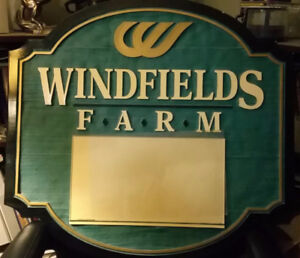 Windfields Farms Stall Sign for yearling sale