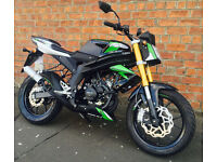 RIEJU RS3 50 NKD STREET FIGHTER LEARNER LEGAL (INC 16 YEAR OLDS) MOTORCYCLE