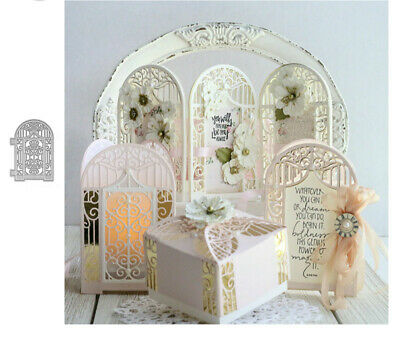 Metal Cutting Dies Cut Die Mold Lace Wedding Door Frame Scrapbook Paper Crafts](Scrapbook Paper Crafts)