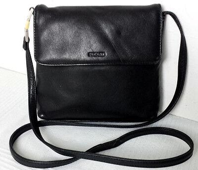 Picard Vintage Leder Umhängetasche Tasche Cross Body Bag Beutel Schwarz