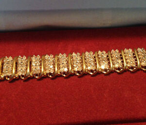 10 K Gold Bracelet With Diamonds!
