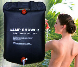 20L Outdoor Portable Camp Shower Heating Pipe Bag Water Heater