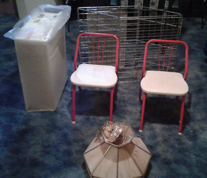Children's Chairs, Dog Cage, Ceiling Lamp, Foam Wedges
