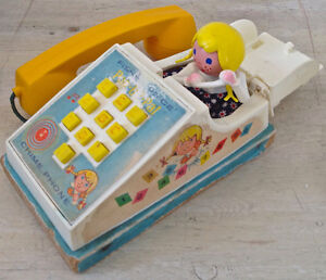 Vintage 1968 Collection. Jouet ancien FISHER PRICE Chime Phone