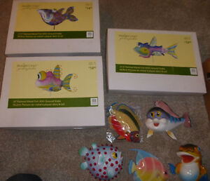 Decorative fish with ground stake (large) $10 EA, smaller fish