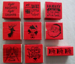 Stamps for crafts, Lot of Christmas stamps, rubber mounted stamp