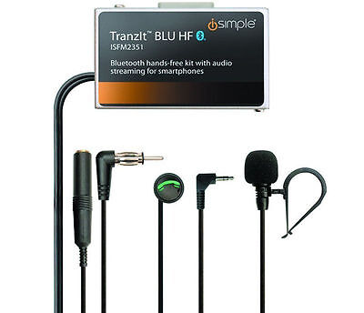 iSimple ISFM2351 Tranzit BLU Bluetooth Enabled Car FM Transmitter Music Stream
