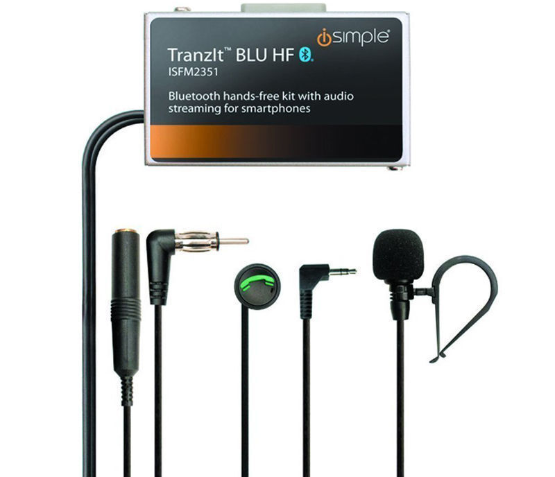 iSimple ISFM2351 Tranzit BLU Bluetooth Enabled Car FM Transmitter Music Stream