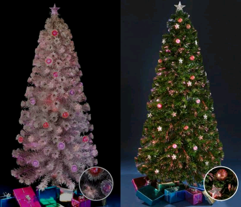 Fibre Optic Christmas Tree With Baubles.6ft Fibre Optic Star And Bauble Christmas Tree In Ossett West Yorkshire Gumtree