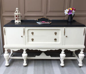 Beautiful Refinished Antique Solid Wood Sideboard/Buffet!