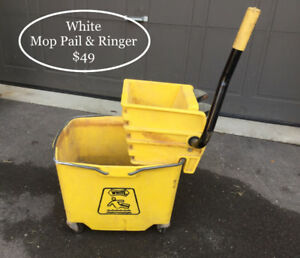Industrial Mop Pail & Ringer from WHITE 4 Professional Cleaners