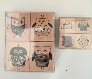 2 Hero Arts Stamp Sets Four Stylish Owls & What a Hoot