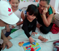 Care for disabled children in a hospital in Vietnam