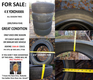 All Season Tires for SALE (GREAT!!!)