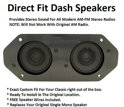 Stereo Dash Replacement Speaker for Modern Radios Dual Sound Left & Right - 2**