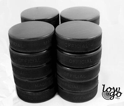 20 x Eishockeypuck schwarz offiziell Erwachsene Eishockey Neu 1. Wahl