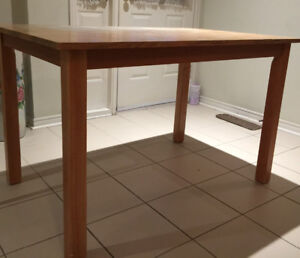 Hardwood Breakfast table with 4 chairs