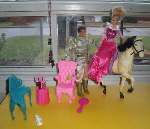 Princess Barbie, Prince charming, white Horse ++++ West Island Greater Montréal image 2