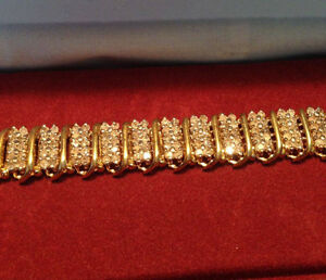 10 K Gold Bracelet With Diamonds!!