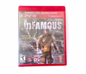 PS3 Infamous Video Game Playstation 3 COMPLETE w/ Case Insert