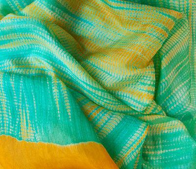 Shibori Hand-Dyed Silk Scarf 72