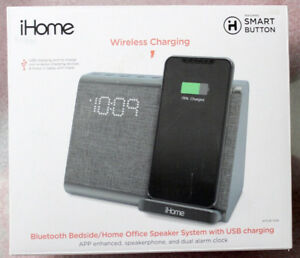 IHOME BT BEDSIDE/HOME OFFICE SPEAKER SYSTEM