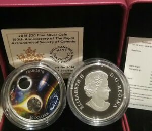 1868-2018 Meteorite Royal Astronomical Society $20 Silver Coin