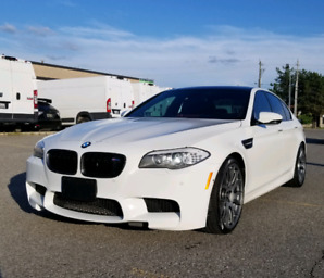 BMW M5 WHITE ON RED BBS RIMS BIGHT VISION HUD DCT M EXHAUST