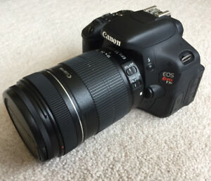 CANON EOS Rebel T3i CAMERA with  18-135 mm Lens
