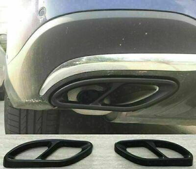 2 x Auspuffblende Schwarz Auspuff Abdeckung für Mercedes E C GLC B A GLE GLS BE!