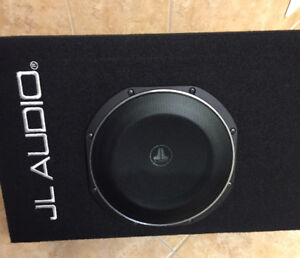 NEW Jl audio 10 ported amplified subwoofer