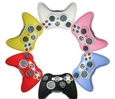 Cubierta del caso de la piel del silicón para el regulador del juego Xbox 360SE
