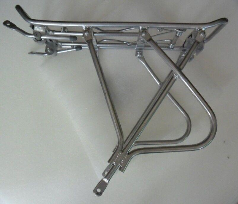 "Super light 20""  adjustable rear rack silver solid Alum for"
